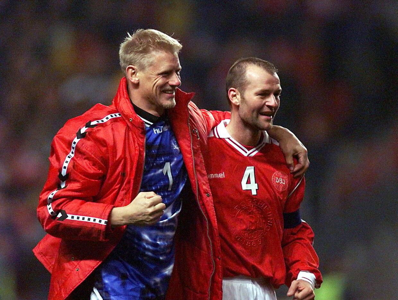 Peter Schmeichel og Jes Høgh i 1999.