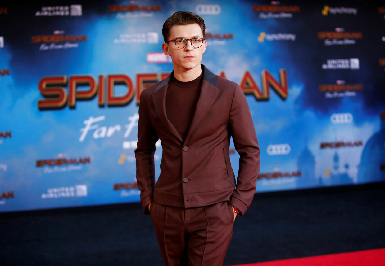 Tom Holland til premiere på den biografaktuelle 'Spider-Man: Far from Home'.