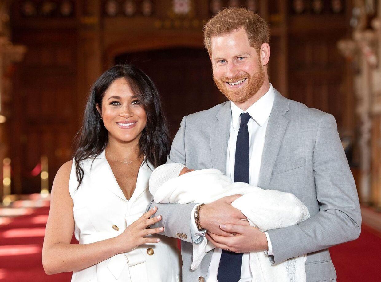 Meghan, Harry og sønnen Archie.