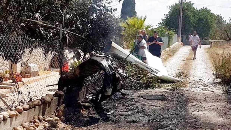 Her ses et billede fra ulykken, der er blevet gjort til gængelig fra det lokale brandvæsen.