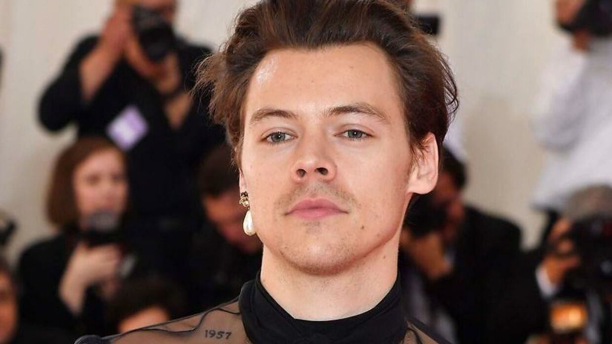 Harry Styles ved Met Gala tilbage i maj måned. (Photo by ANGELA WEISS / AFP)