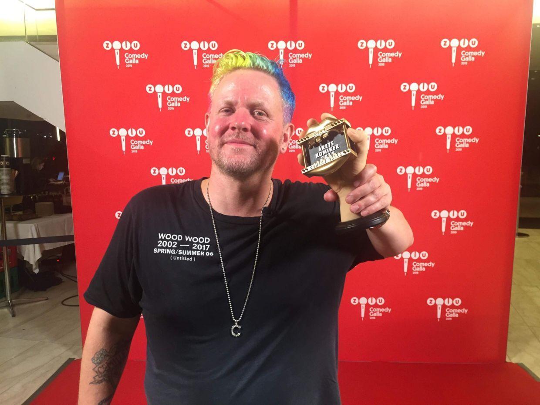 Anders Matthesen vandt torsdag aften prisen som 'Årets komiker' ved Zulu Comedy Galla'.