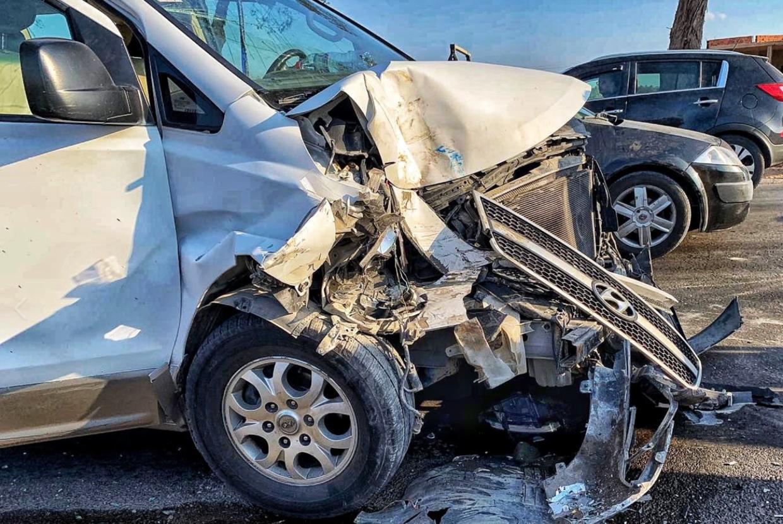 Sabatons bil var smadret efter ulykken.