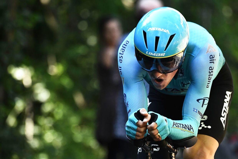 Jakob Fuglsang under Tour de France.
