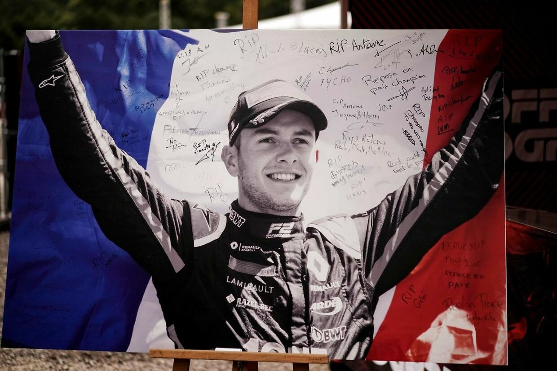 Anthoine Hubert blev hyldet i forbindelse med Formel 1-løbet på Spa.
