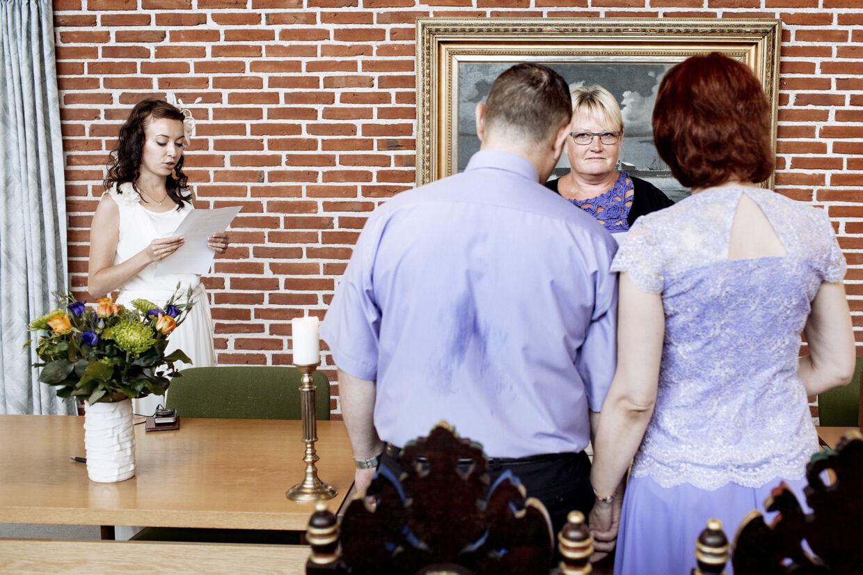 Udenlandske par er i mange år strømmet til Danmark for at blive gift. Det er især på Langeland og Ærø, mange udenlandske brudepar er blevet viet. Nye regler for kontrollen med de udenlandske par har dog gjort, at langt færre par er blevet viet på Ærø og Langeland i 2019. (Arkivfoto) Bax Lindhardt/Ritzau Scanpix