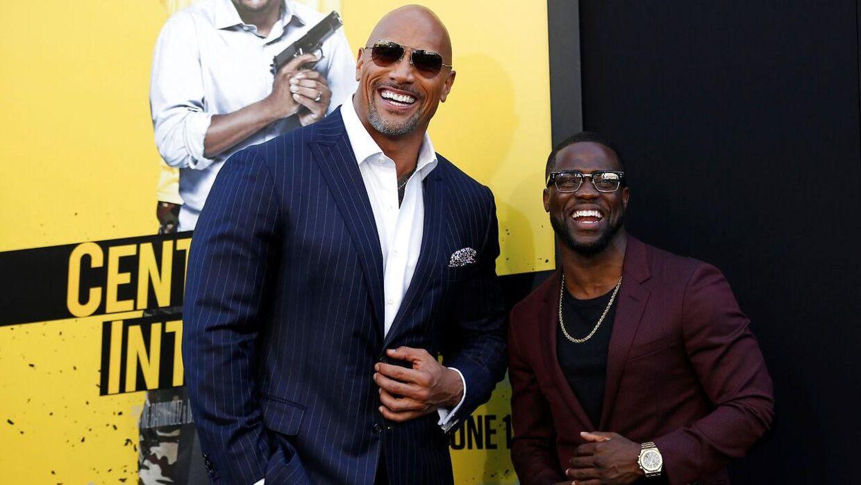 Dwayne Johnson og Kevin Hart har spillet sammen i adskillige film, blandt andet 'Central Intelligence'. (Foto: REUTERS/Mario Anzuoni)