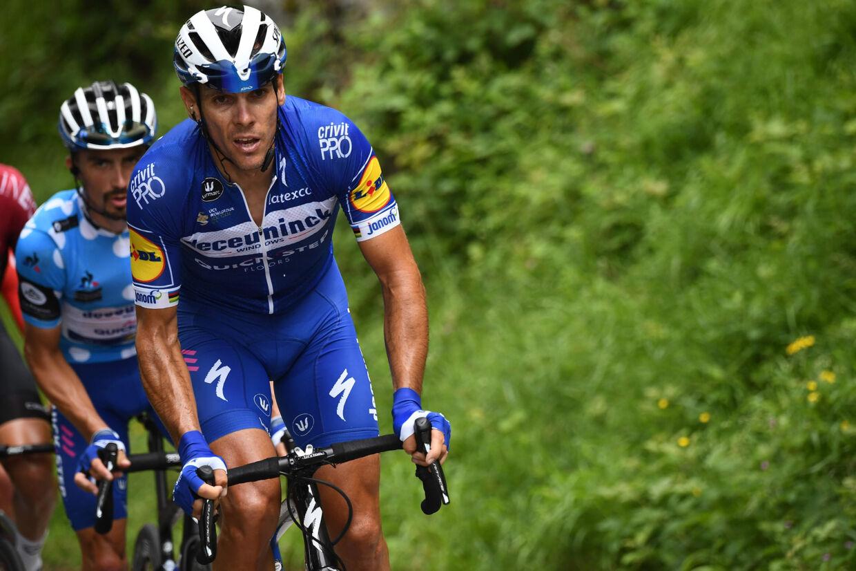 Belgiske Philippe Gilbert rykkede uimodståeligt fra konkurrenterne på sidste stigning på 12. etape i Vueltaen. Anne-Christine Poujoulat/Ritzau Scanpix