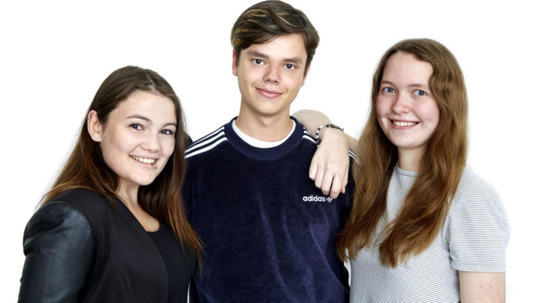 Stephanie, Christian og Rachel fra 'Årgang 0'.
