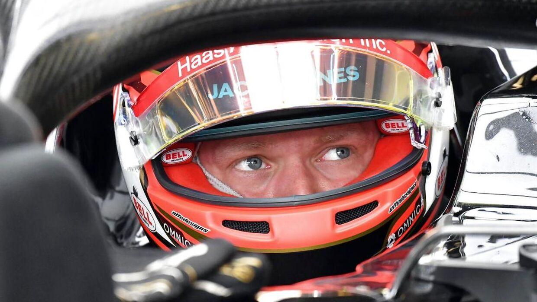 Kevin Magnussen kører kvalifikation på Monza i Italien. (EPA/Daniel Dal Zennaro)
