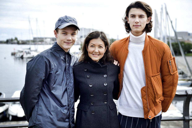 Grevinde Alexandra havde igen i år begge sine sønner med til Ecco Walkaton på Kastellet i København.