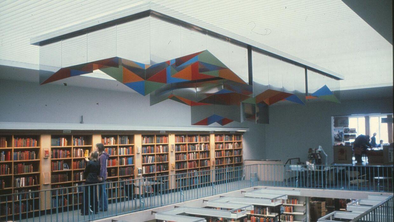 William Soyas kunstværk som det tog sig ud i det gamle bibliotek i Kolding.