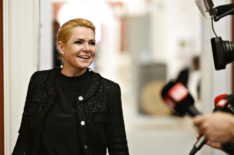 Inger Støjberg (V) forlader Venstres gruppemøde på Christiansborg tirsdag den 10. september 2019.. (Foto: Philip Davali/Ritzau Scanpix)
