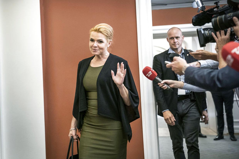 Gruppemøde i Venstre efter Lars Løkke Rasmussen og Kristian Jensen er gået af som formand og næstformand for partiet. Sted: Christiansborg. Inger Støjberg.
