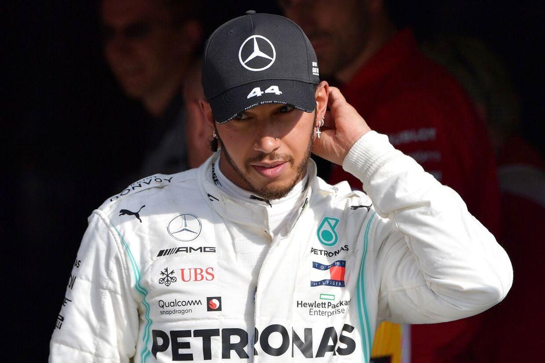 Lewis Hamilton blev nummer tre i weekendens Formel 1-grandprix i Italien.