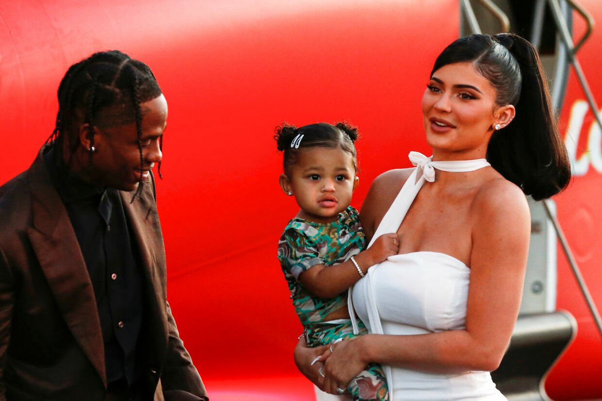 "Travis Scott, Kylie Jenner and their daughter Stormi Webster share a moment at the premiere for the documentary ""Travis Scott: Look Mom I Can Fly"" in Santa Monica, California, U.S., August 27, 2019. REUTERS/Mario Anzuoni"