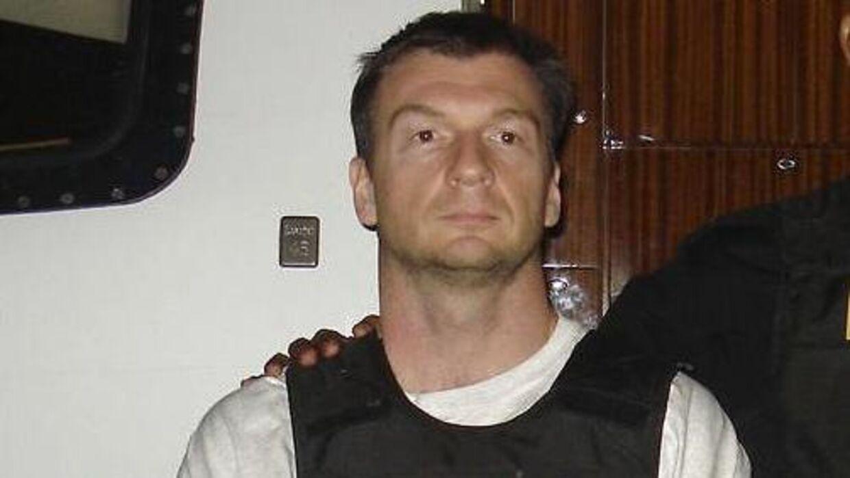 Bruce Beresford-Redman blev udleveret til Mexico under stor mediebevågenhed 8. februar 2012. Her blev han dømt for drab og sad i fængsel ind til for få måneder siden. (Politifoto/Scanpix)