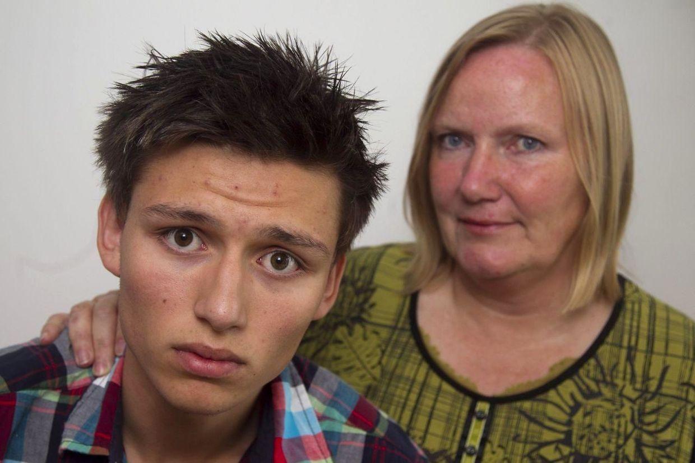 Patrick Piscot og hans mor, Britt Kreutzmann. Foto: Kim Haugaard