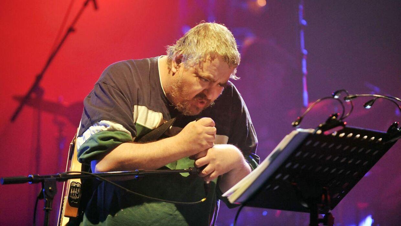 Daniel Johnston under et show i 2010 i Bourges.