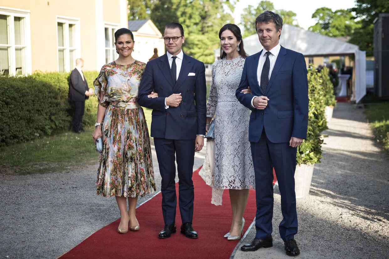Ved det danske kronprinspars besøg i Stockholm i 2017 var det også kronprinsesse Victoria og prins Daniel, der viste rundt.