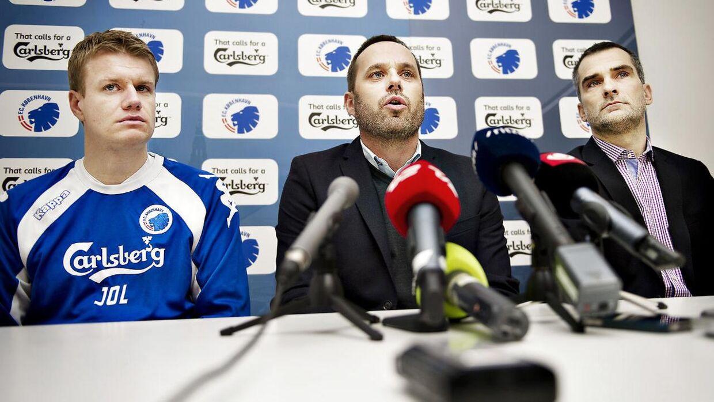 Anders Hørsholt (th.) har tidligere været i FCK.