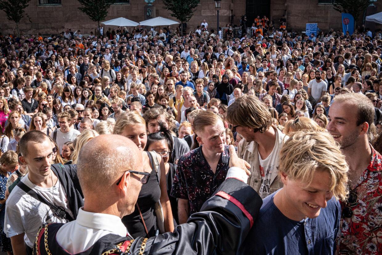 I 2019 blev 81 procent af de studerende, der blev optaget på en videregående uddannelse, optaget i hovedstadsområdet, Aarhus, Odense og Aalborg. I 2016 var andelen på 80 procent. (Arkivfoto) Niels Christian Vilmann/Ritzau Scanpix