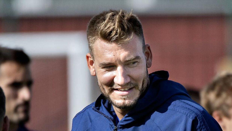 Nicklas Bendtner kan få debut for FCK søndag.