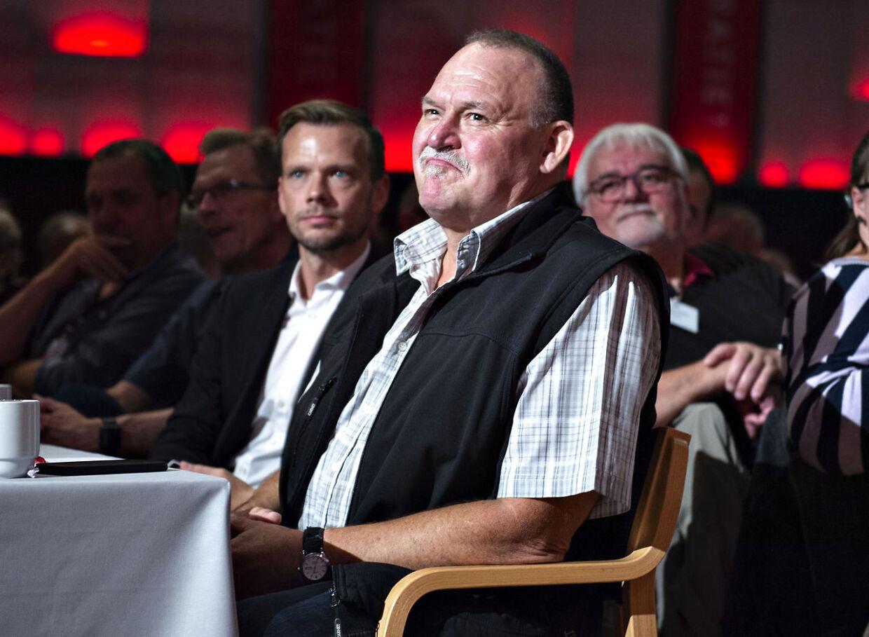 Arne hyldes under Socialdemokratiets kongres i Aalborg Kongres & Kultur Center lørdag 14. september 2019.