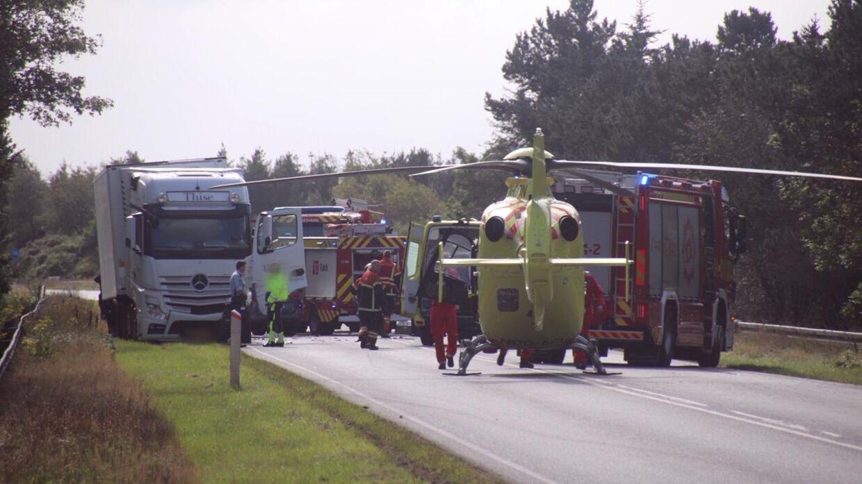 Ulykken skete nord for Engesvang ved Silkeborg.