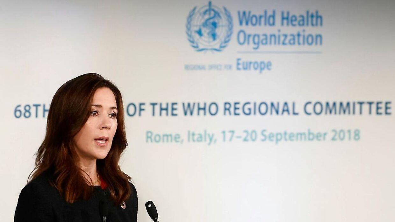 Kronprinsesse Mary under et WHO-møde i Rom i september sidste år.