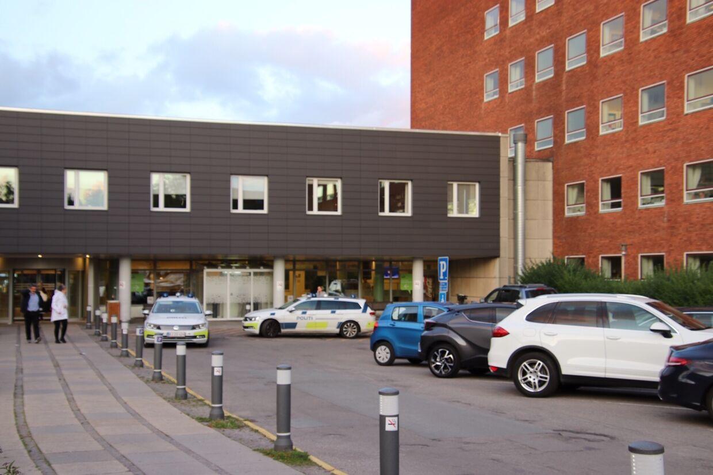 Billede fra Bispebjerg Hospital, hvor Django Levakovis slap væk fra politiet.