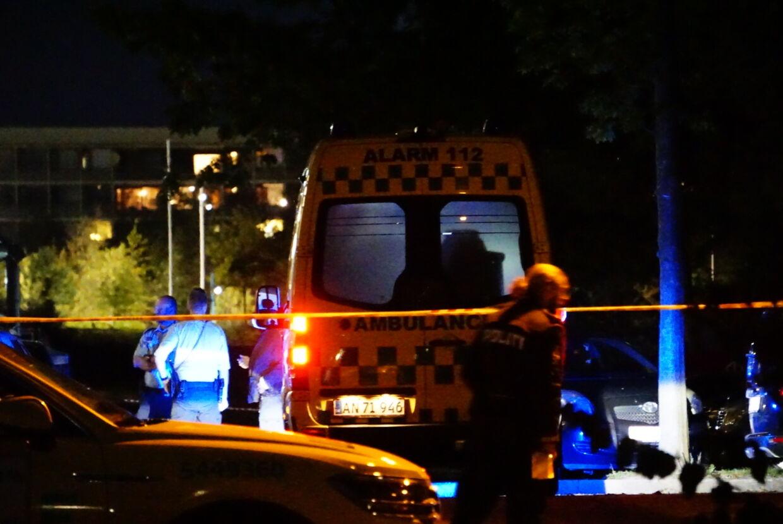 Politiet talstærkt til stede i Gellerup i Århus. Presse-fotos/drone-fotos
