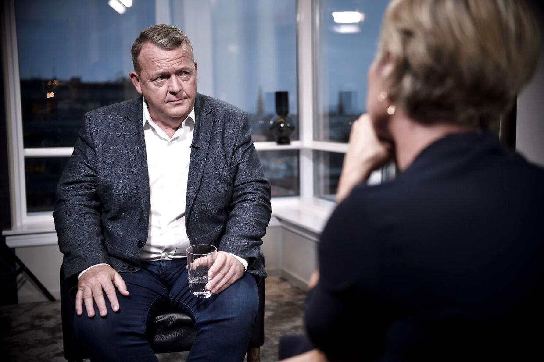 Venstres tidligere formand Lars Løkke Rasmussen, der trak sig efter uro, giver interview til TV2 om at forlade formandsposten på Hotel Marriott i København, søndag aften den 15. september 2019. (Foto: Tariq Mikkel Khan/Ritzau Scanpix)
