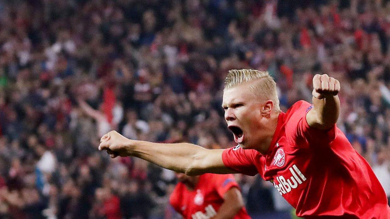 Erling Braut Haaland imponerede alt og alle, da han i Champions League-opgøret mod Genk scorede tre mål i første halvleg.