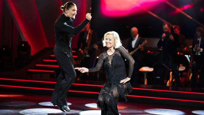 Sangerinden Anne Dorte Michelsen og Marc Christensen brændte ikke igennem på dansegulvet og er nu favoritter til at ryge ud af 'Vild med dans'. (Foto: Martin Sylvest/Ritzau Scanpix)