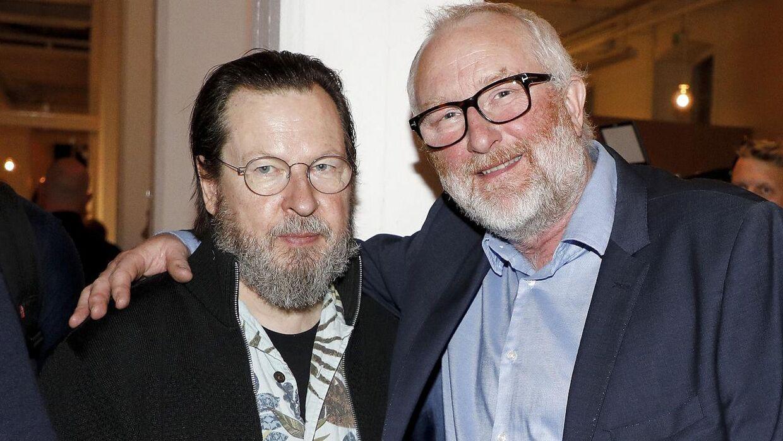 Lars von Trier og Peter Aalbæk. Den succesfulde filmduo er nu fælles om et storstilet byggeprojekt. (Foto: Scanpix)