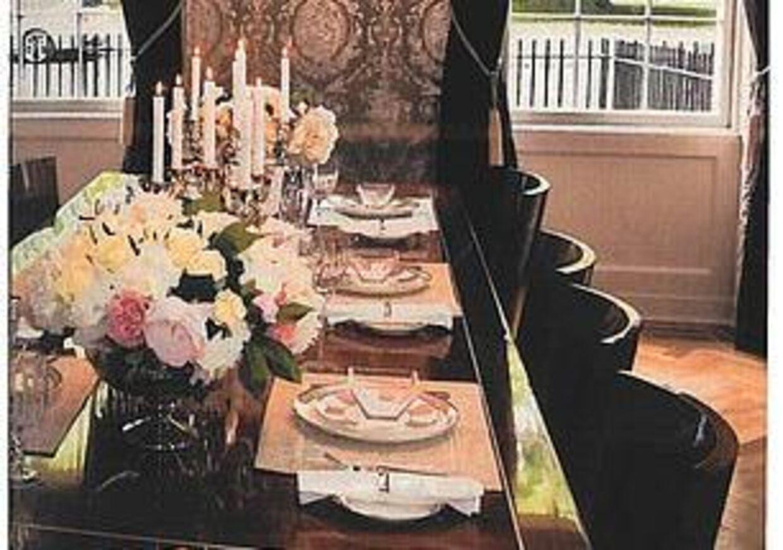 Så smukt så det ud, når bordet var dækket.