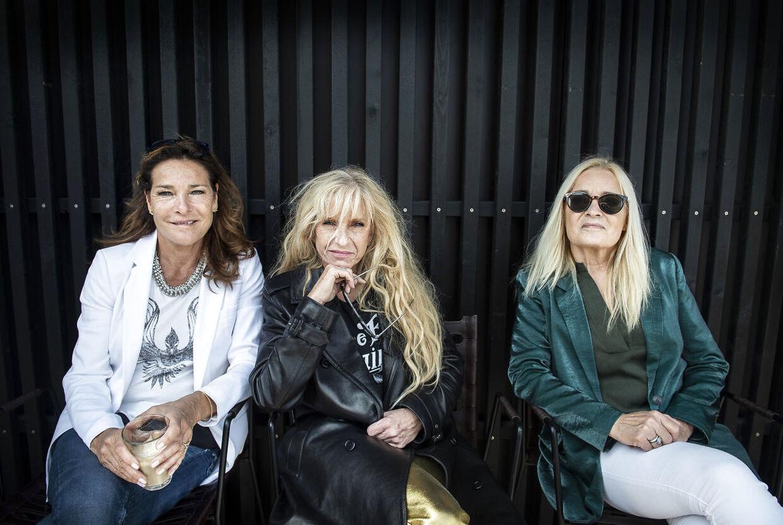 Sanne Salomonsen, Lis Sørensen og Anne Linnet stiller op til fotografering ved Grøn Koncert pressemødet i København tirsdag den 4. juni 2019