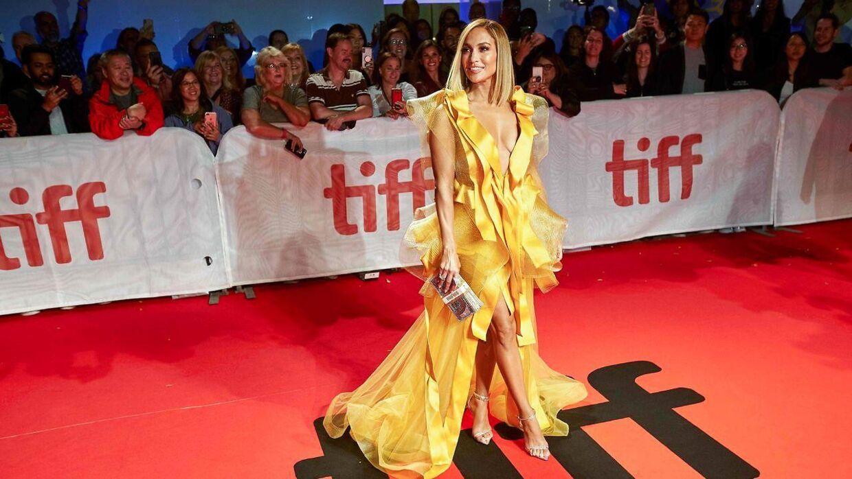 Jennifer Lopex ved Toronto International Film Festival den 3. september, hvor 'Hustlers' blev vist første gang.