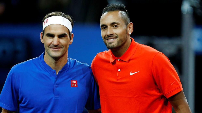 Nick Kyrgios tabte kampen til Roger Federer. Ifølge eget udsagn mistede han koncentrationen, fordi han så en flot pige.