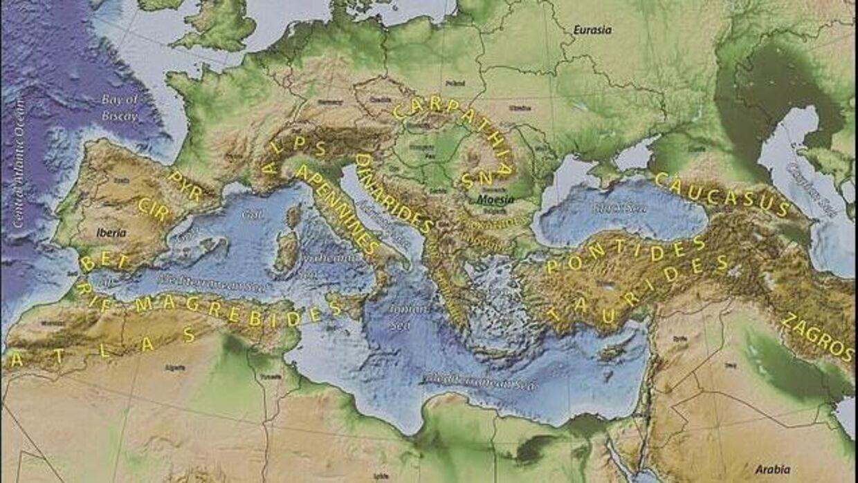 'Greater Andria' menes ifølge forskerne at have skabt mange af de bjergkæder der præger det europæiske kontinent i dag.