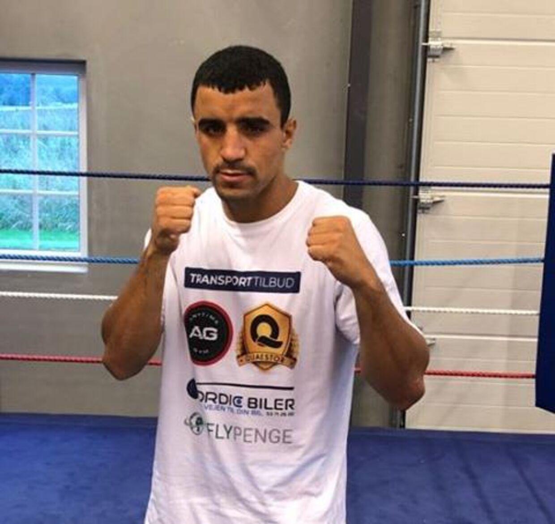 Abdul Khattab i træningscentret hos Mikkel Kessler. (privatfoto)