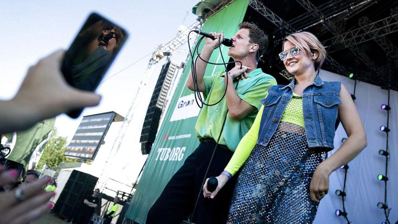 Alphabeat under Grøn koncert på Tiøren i København, torsdag den 18. juli 2019. (Foto: Liselotte Sabroe/Ritzau Scanpix)