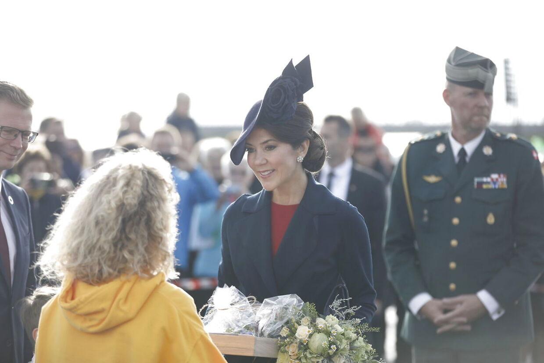 Kronprinsesse Mary indvier den ny forbindelse over Roskilde Fjord.