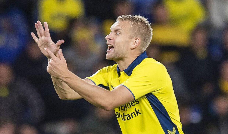 Brøndby-backen Johan Larsson leverede mod Sønderjyske en mindre god præstation.