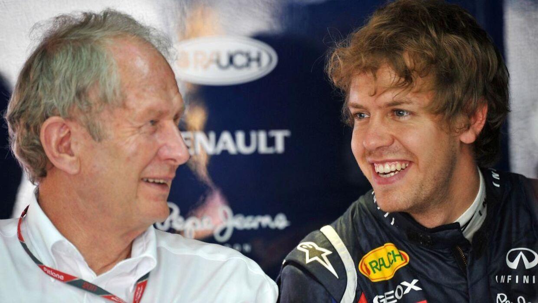 Helmut Marko og Sebastian Vettel.