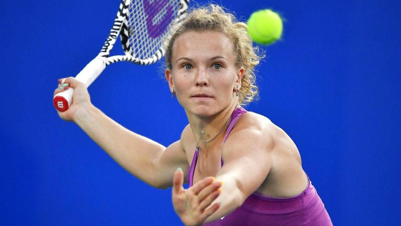 Katerina Siniakova venter for Caroline Wozniacki i tredje runde af China Open.