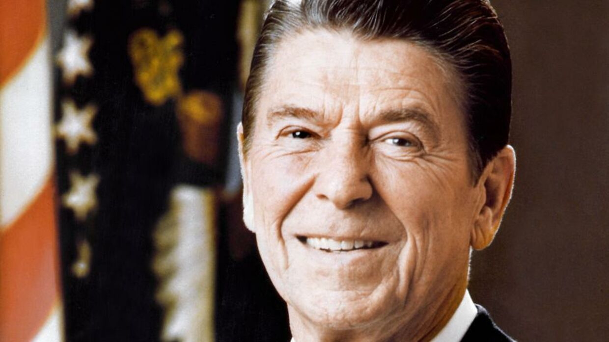 Official portrait of US President Ronald Reagan, on March 01, 1981. CONSOLIDATED NEWS PICTURES / AFP