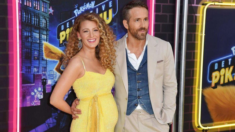 Blake Lively og Ryan Reynolds ved premieren til 'Pokemon Detective Pikachu'.