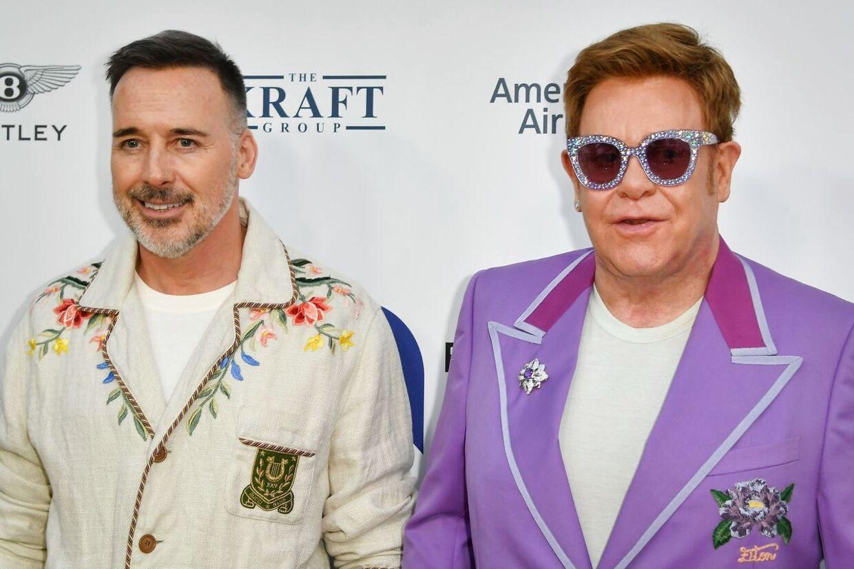 Elton John og hans mand, producer David Furnish.